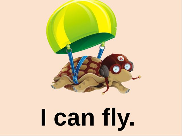 I can fly.