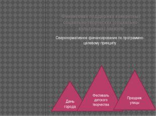 Финансовая поддержка конкретных социально-творческих (социально-культурных) з
