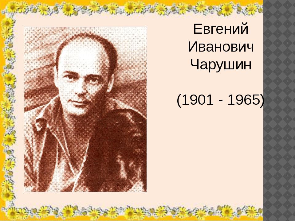 Евгений Иванович Чарушин (1901 - 1965) Любовь к природе родители прививали с...