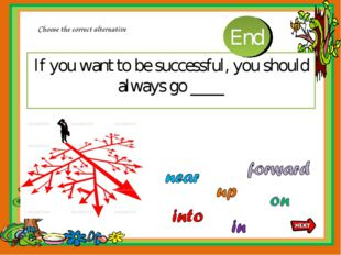 If you want to be successful, you should always go ____ Choose the correct al
