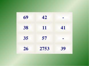 69 42 - 38 11 41 35 57 - 26 2753 39