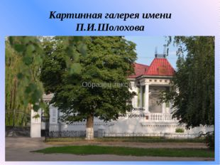 Картинная галерея имени П.И.Шолохова