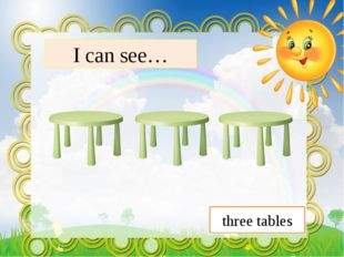 I can see… three tables