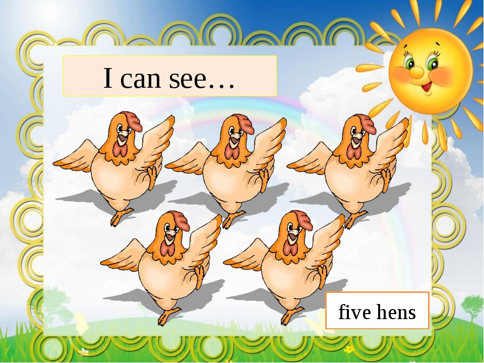 I can see… five hens
