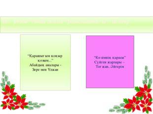 """М.Әуезов """"Абай жолы"""" романындағы әйелдер бейнесі. """"Көзімнің қарасы"""" Сүйген ж"""