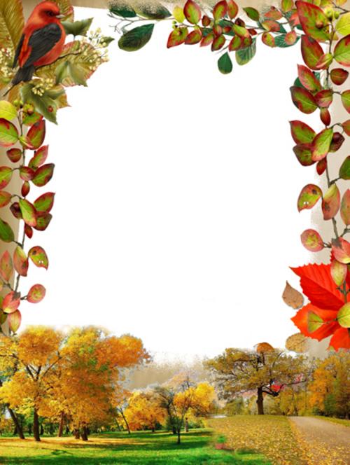 Рамка для фото- Осенняя песня