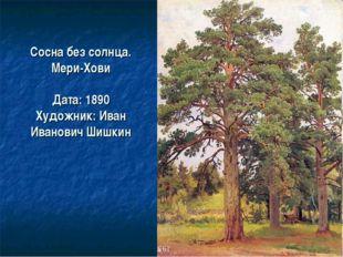 Сосна без солнца. Мери-Хови Дата: 1890 Художник: Иван Иванович Шишкин