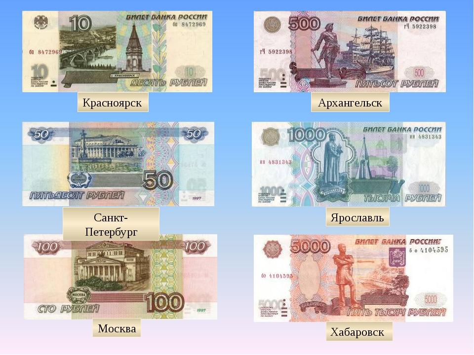 Москва Хабаровск Санкт-Петербург Ярославль Красноярск Архангельск