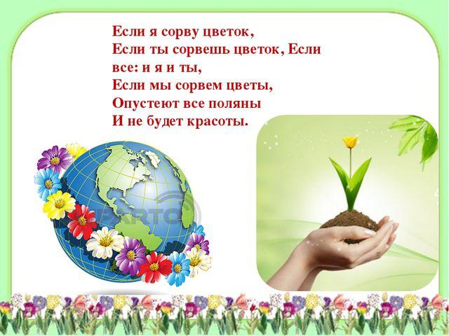 Если я сорву цветок, Если ты сорвешь цветок, Если все: и я и ты, Если мы сорв...