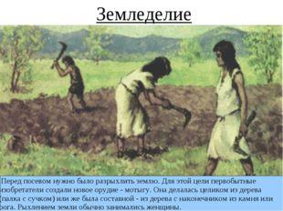 Перед посевом нужно было разрыхлить землю. Для этой цели первобытные изобрет