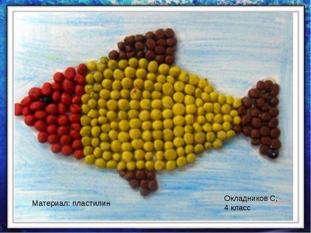 Окладников С, 4 класс Материал: пластилин