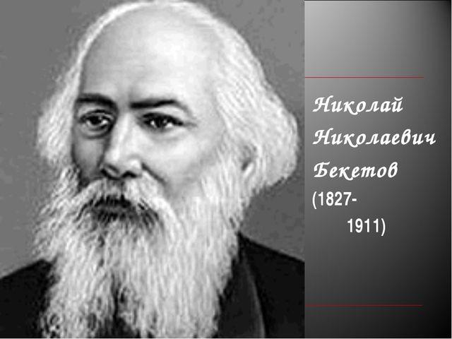Николай Николаевич Бекетов (1827- 1911)