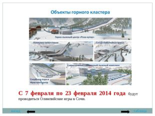 назад таблица С 7 февраля по 23 февраля 2014 года будут проводиться Олимпийск