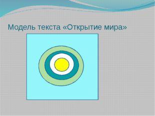 Модель текста «Открытие мира»