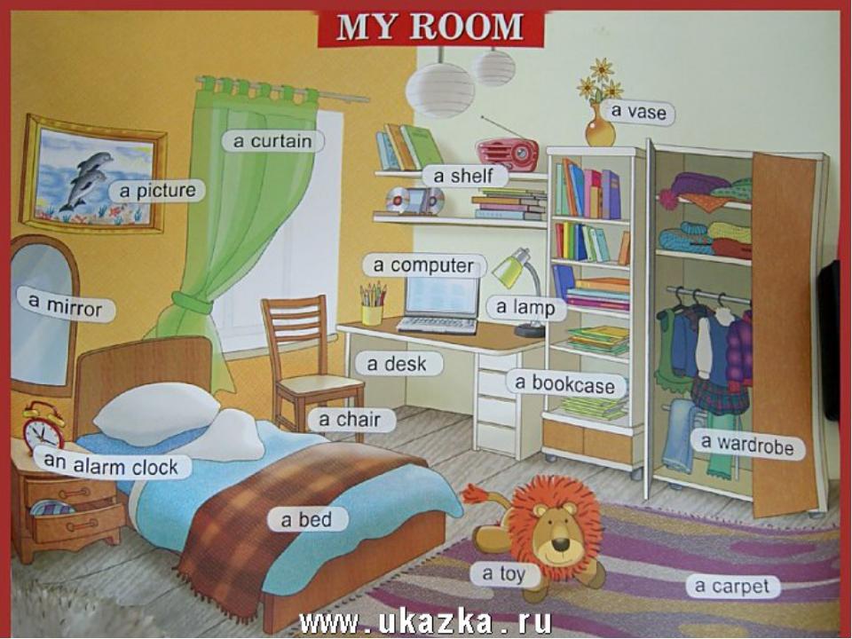 Краткое описание комнаты на английском с переводом