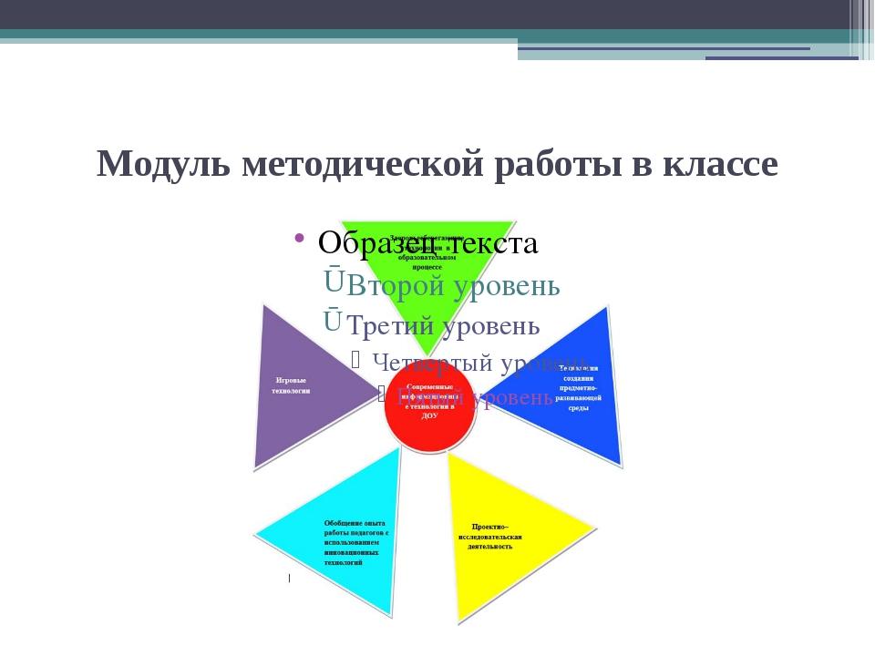 Модуль методической работы в классе
