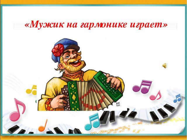 «Мужик на гармонике играет»