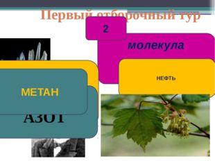 Первый отборочный тур молекула 2 Лебедев НЕФТЬ АЗОТ МЕТАН