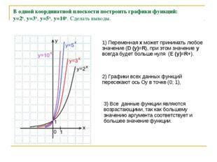 В одной координатной плоскости построить графики функций: y=2x, y=3x, y=5x,