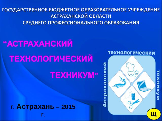 г. Астрахань – 2015 г. *