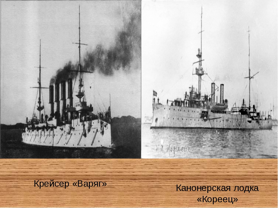 Крейсер «Варяг» Канонерская лодка «Кореец»