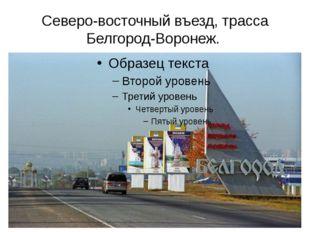 Северо-восточный въезд, трасса Белгород-Воронеж.