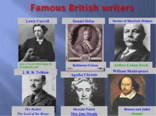 ALICE'S ADVENTURES IN WONDERLAND Lewis Carroll Daniel Defoe Robinson Crusoe