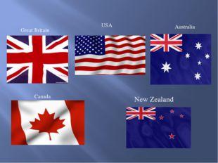 Great Britain USA Australia Canada New Zealand