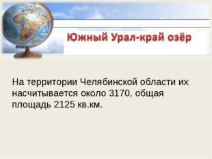 На территории Челябинской области их насчитывается около 3170, общая площадь