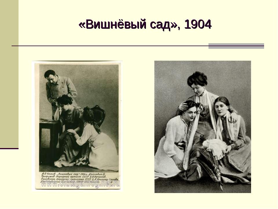 «Вишнёвый сад», 1904