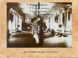 Вид экспозиции выставки «Голубая роза»