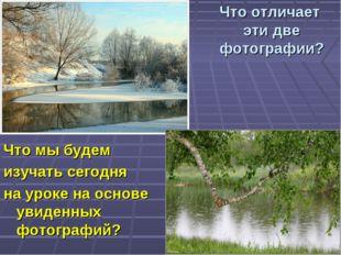 Что отличает эти две фотографии? Что мы будем изучать сегодня на уроке на осн