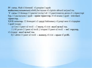IV саты. Жай сөйлемнің түрлеріне қарай: жайылма;толымсыз(себебі,бастауыш түсі