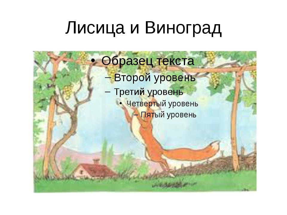 Лисица и Виноград
