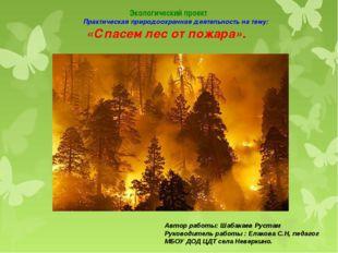 Экологический проект Практическая природоохранная деятельность на тему: «Спа