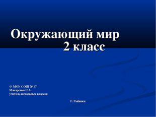 Окружающий мир 2 класс @ МОУ СОШ № 17 Макаренко С.А. учитель начальных классо