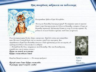 Коваль Юрий Иосифович Как тигрёнок забрался на подсолнух Рассказывает Коваль