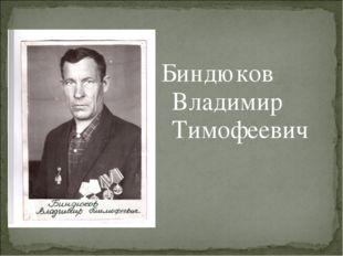Биндюков Владимир Тимофеевич