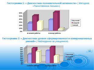 Гистограмма 1: « Диагностика познавательной активности» ( Методика «Таинствен