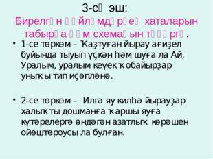 3-сө эш:  Бирелгән һөйләмдәрҙең хаталарын табырға һәм схемаһын төҙөргә. 1-се