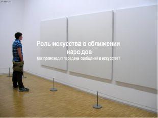 «Символы в искусстве ХХ века Абстракционизм Супрематизм» Роль искусства в сбл