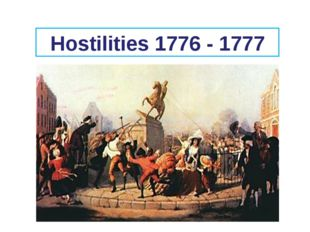 Hostilities 1776 - 1777