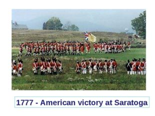 1777 - American victory at Saratoga