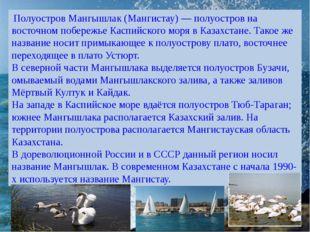 Полуостров Мангышлак (Мангистау) — полуостров на восточном побережье Каспийс