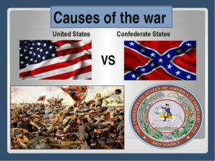 United States Confederate States VS Сauses of the war
