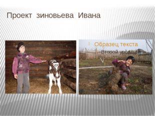 Проект зиновьева Ивана