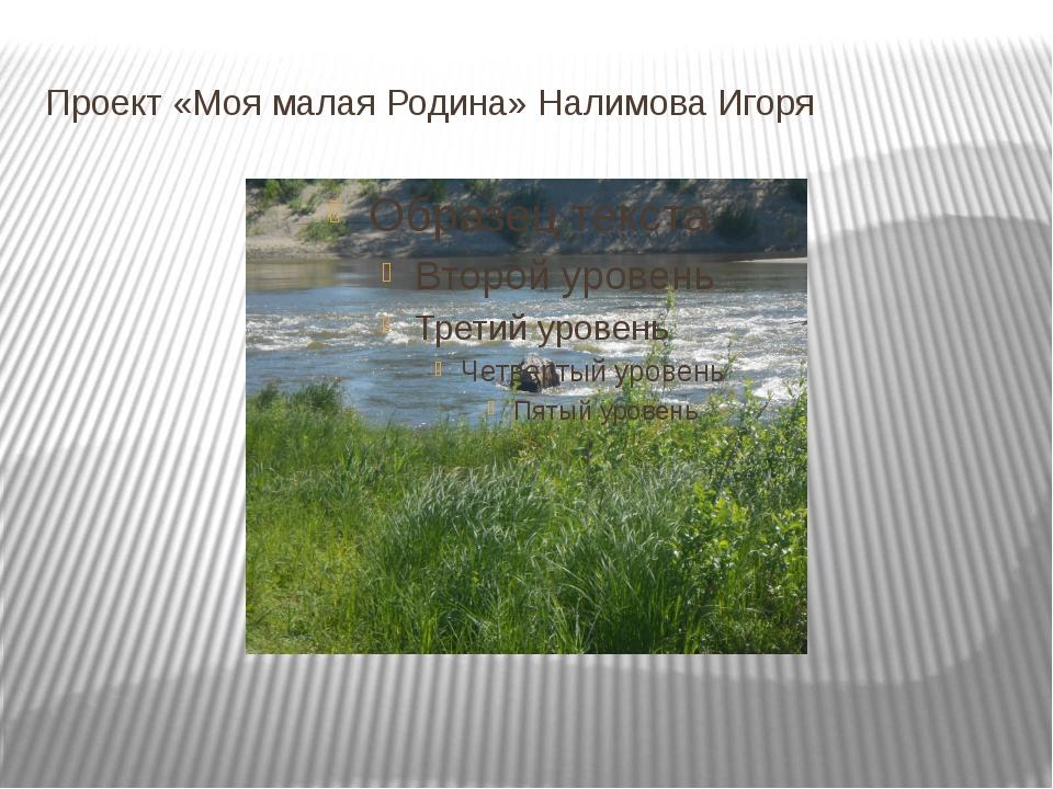 Проект «Моя малая Родина» Налимова Игоря