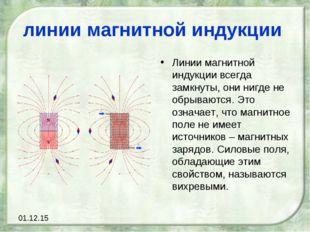 линии магнитной индукции Линии магнитной индукции всегда замкнуты, они нигде