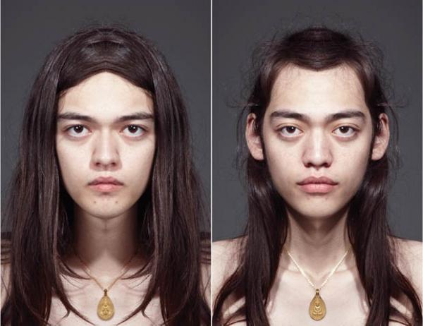 Фото проект Джулиана Волькенштейна «Симметрия лица»