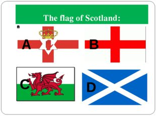 The flag of Scotland: